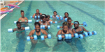 Women Participating in Water Aerobics