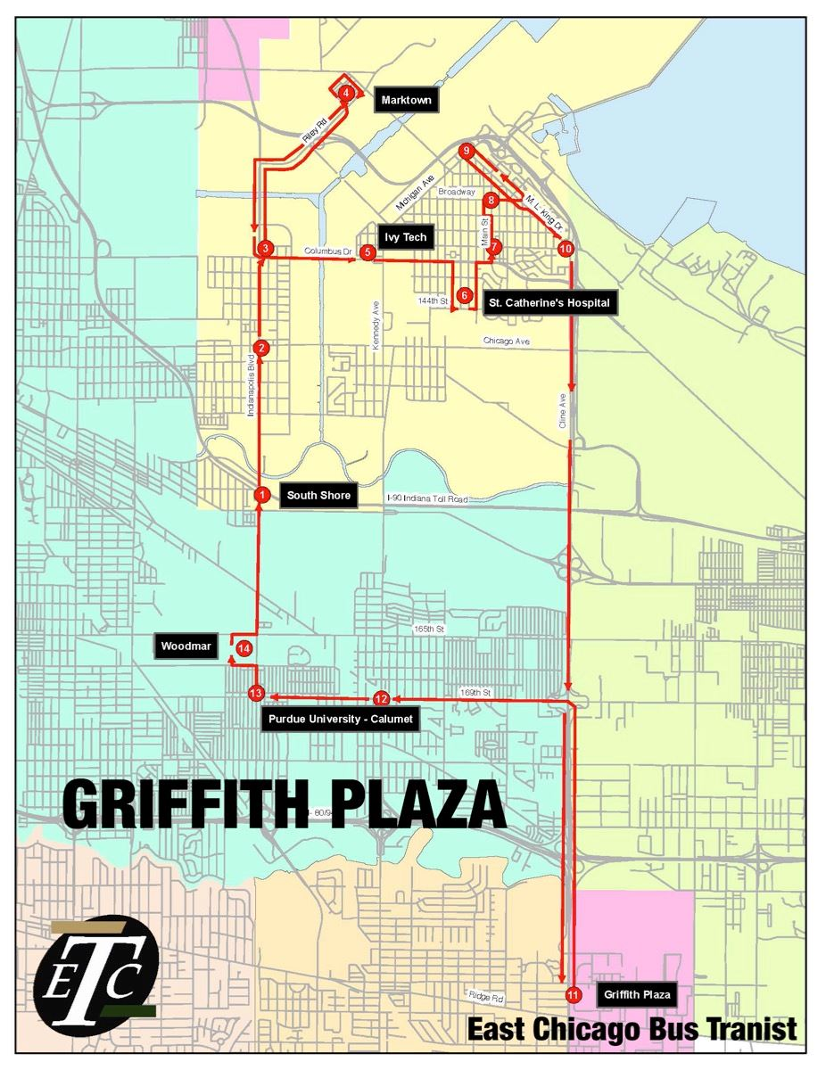 Route 1 - Griffith Plaza Route Map (JPG)