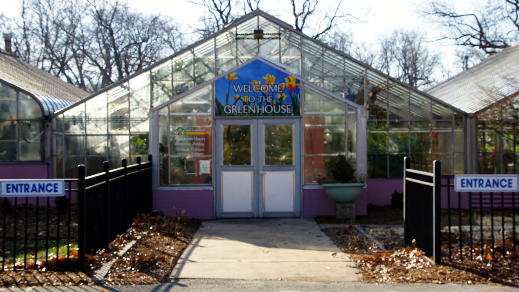 Greenhouse Building Front View