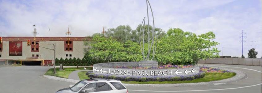 Jerose Park Beach Parking Plaza Mockup