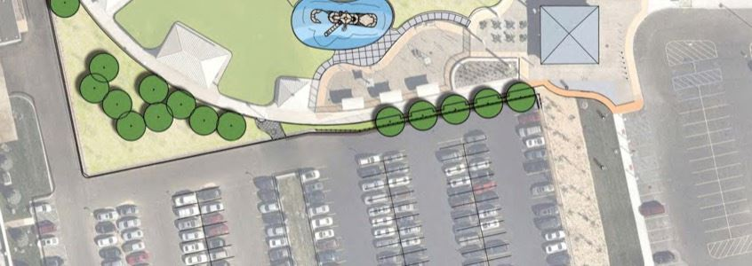 Conceptual Harborwalk  Parking Lot Map