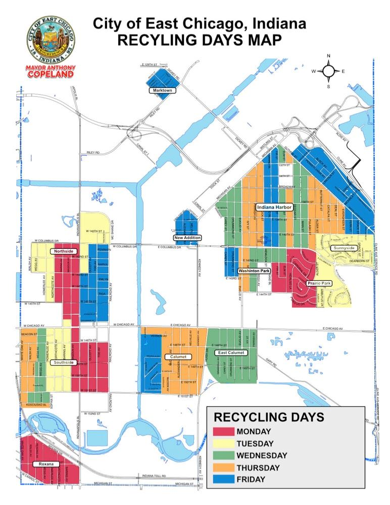 Recycling Days Map (JPG)